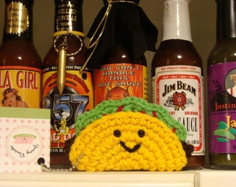 Yay Taco Mini Plush Keychain or Ornament
