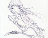 Harpy Chick, original drawing