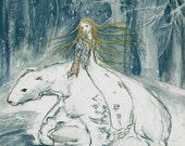 East of Sun West of Moon Fairy tale princess with white bear