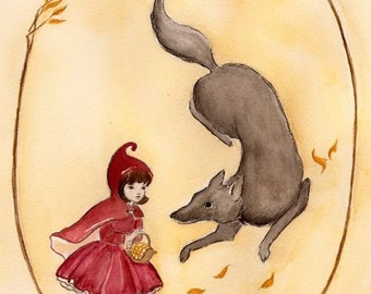 Little Red Riding Hood Original Painting