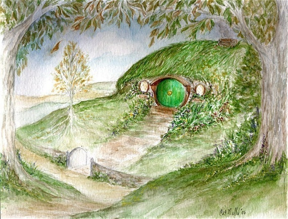 Bag End  -8x10 fine art print Hobbit Hole of Lord of the Rings