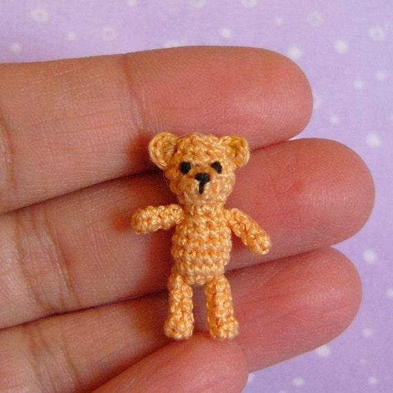 PDF PATTERN - Amigurumi Micro Crochet Tutorial Pattern Miniature Orsino Bear