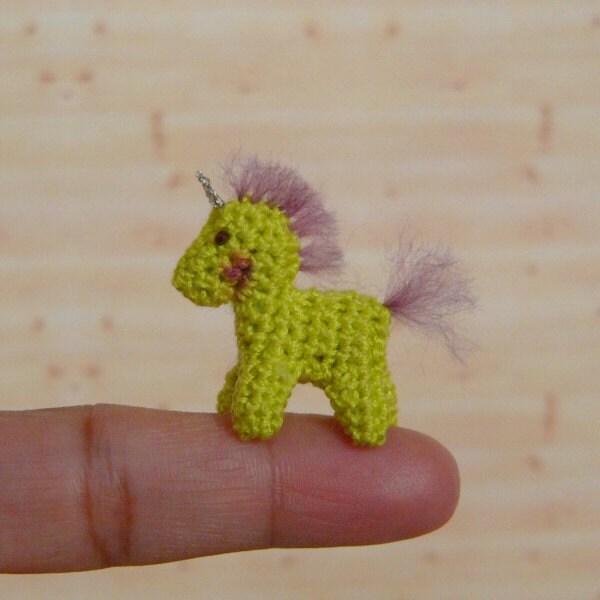 Crochet Unicorn Horn : Muffas Miniature Thread Crochet Unicorn by MuffaMiniatures