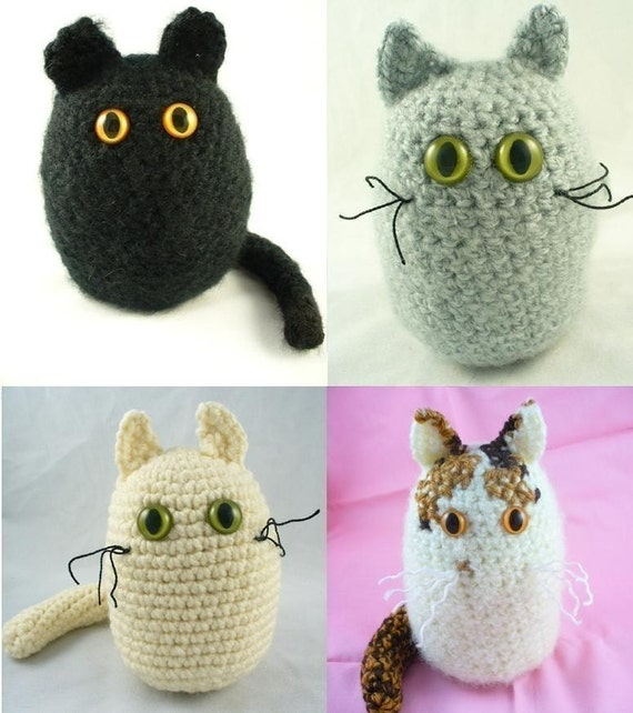 Amigurumi Black Cat Pattern : Crochet Amigurumi Cat PATTERN