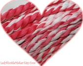 MY SWEET VALENTINE     Size 20    hand dyed TATTING crochet embroidery CQ cotton thread   6 cord