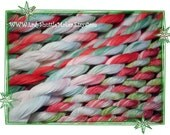 Holly Jolly Christmas   Size 20    hand dyed TATTING crochet embroidery CQ  thread    100 percent SILK