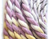 COLUMBINE    Size 20     hand dyed TATTING crochet embroidery CQ thread     100 percent SILK