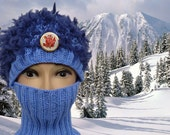 Winter Rose, Army of Lovers, OOAK, winter helmet liner, ski mask, cap comforter, neck guard, resort wear