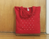 love is in the air tote in red