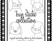 Hand Embroidery .PDF Pattern - Bunnies With Mustaches