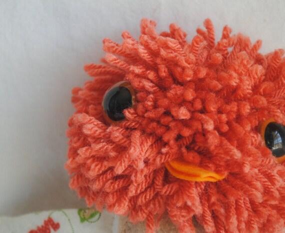 Plush Pompom Headed Bird - Eddy