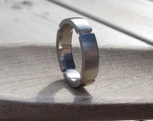 Reserved listing for Sylvia - Mens wedding band - 10k white gold - handmade industrial architectural ring