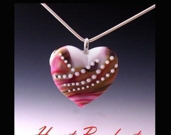 Heart Pendant - LilianaBead Lampwork Bead and Jewelry Tutorial