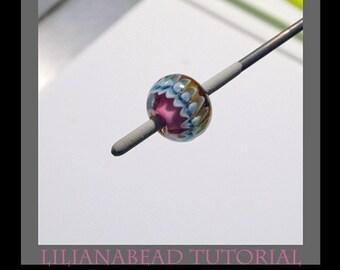 Fancy Ribbon Design - LilianaBead Lampwork Bead Tutorial
