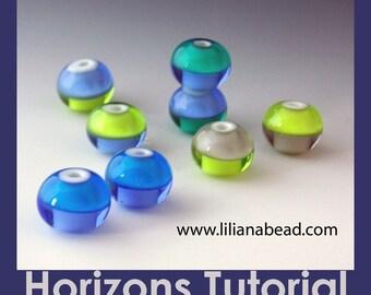 LilianaBead Horizon Lampwork Bead Tutorial