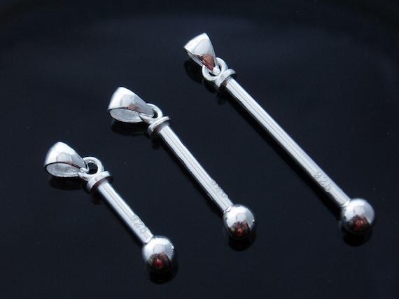 Interchangeable Sterling Silver Bead Holder Pendant