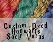 For Hogwarts Sock Kit Swappers  Sock Yarn  Any House  Any Stripe and now any Base