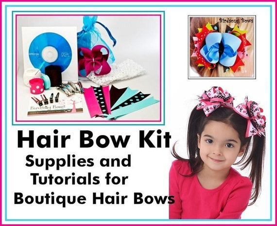 boutique style hair bow tutorial items similar to how to make boutique hair bows beginner 6832