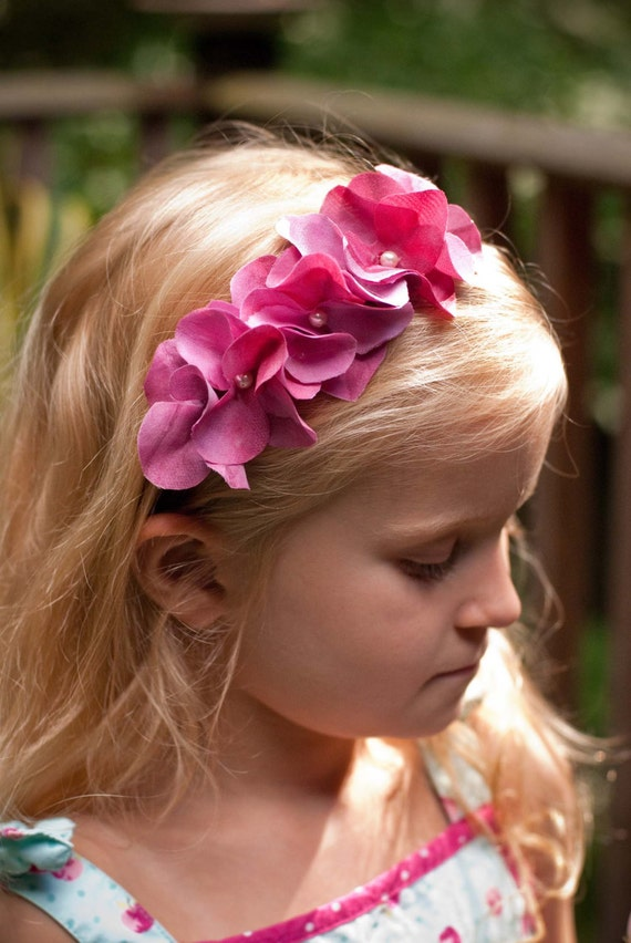 DIY Fabric Flower Tutorial pattern - with headband and clip instructions PDF ebook Instant Download