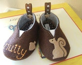 Nutty Squirrel Wool Felt Baby Shoes- Sizes 1-6
