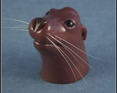 Playful Pup - California Sea Lion sculpture, cat whiskers, whimsical