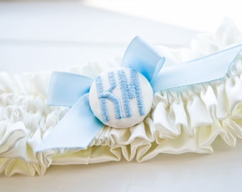 Custom Monogram Wedding Garter
