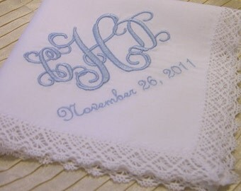 Monogram Wedding Hankie