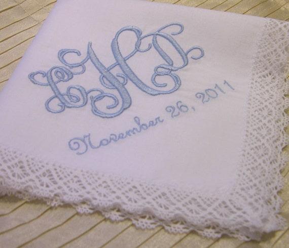 Monogram Wedding Hankie