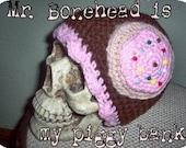 Crocheted SUGAR COOKIE hat with sweet scallops OOAK