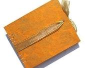 Tangerine Mums Medium Guest Book - Made to Order