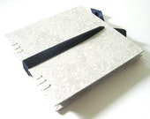 Wedding Guest Book - Pearl and Navy Large Guest Book - Made to order