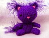 Raven the Purple Amigurumi Kitty