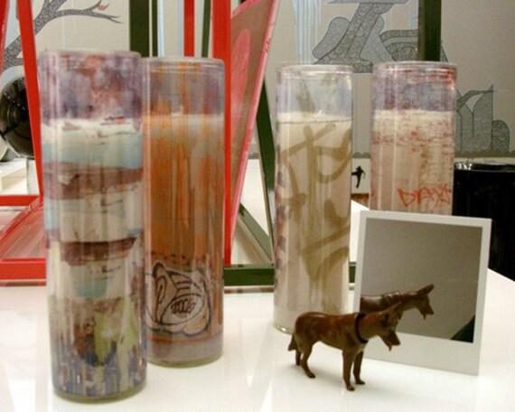 D-LIGHT pillar candles / 4-pack