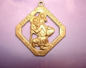 St. Christopher Medal Spiritual Charm to Keep You and Loved Ones Safe on Etsy x 1