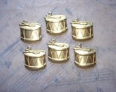 Drum Charms Musical Brass Christmas on Etsy x 6