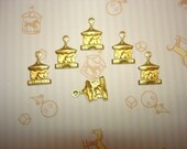 SALE Tiny Carousel Brass Charms on Etsy x 6