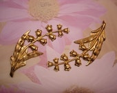 Lily of the Valley Flower Spray Brass Charms/Stampings on Etsy x 2