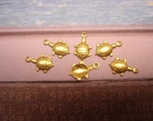 Tiny Turtle Brass Charms SALE on Etsy
