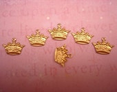 Crown Princess Brass Charms Mixed Media Art Collage on Etsy x 6