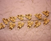 Curvy Leaves Tiny Leaf Charms Brass Supplies on Etsy x 12