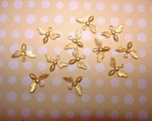 Tiny Bee Open Wing Brass Charms With RINGS on Etsy USA Made x 12