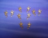 Small Mermaid Pairs Sea Goddess Left and Right Brass Jewelry Charms on Etsy x 5 Pair
