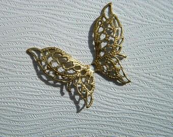 Butterfly Angel Wings Brass Filigree Jewelry Charm on Etsy x 1