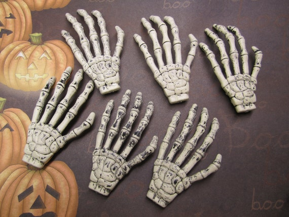 WE'RE BAAAACK-6 Skeleton Hands/Halloween/Decoration/Goth Jewelry on Etsy
