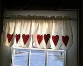 Valentines' Day Kitchen Valance