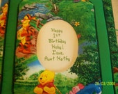 WINNIE THE POOH Personalized Fabric Photo Album / Scrapbook