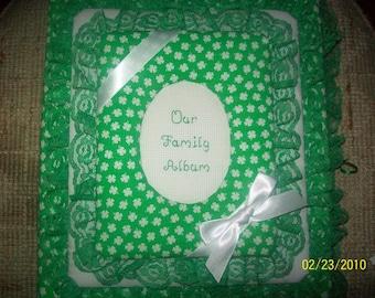 Shamrock / St Patrick's Day / Irish / Family Personalized Photo Album / Scrapbook
