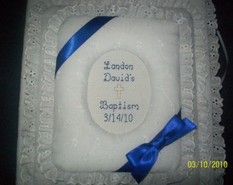 BAPTISM / CHRISTENING / COMMUNION Personalized Photo Album / Scrapbook