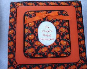 HALLOWEEN Personalized Fabric 12 X 12 Top load Scrapbook