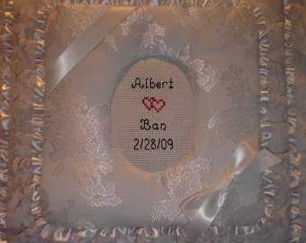 WEDDING Personalized Fabric 12 x12 Top Load SCRAPBOOK